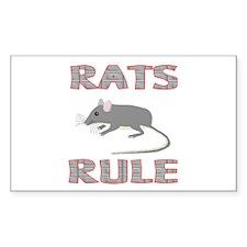 Rat Rectangle Sticker 10 pk)