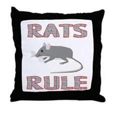 Rat Throw Pillow