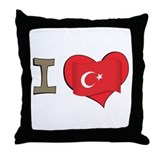 I heart Turkey Throw Pillow