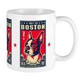 Obey the Boston Terrier! USA Freedom Small Mug