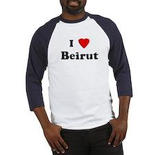 I Love Beirut Baseball Jersey
