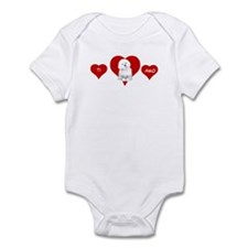 Cute Bolognese dogs Infant Bodysuit