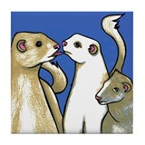 Ferret Business Tile Coaster