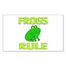 Frog Rectangle Decal