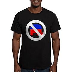 Anti Republican (Pro Democrat Men's Fitted T-Shirt
