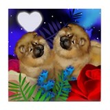 CHOW CHOW DOGS LOVE HEART Tile Coaster