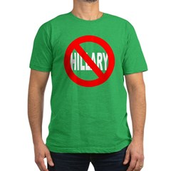 Anti-Hillary Clinton Men's Fitted T-Shirt (dark)