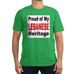 Proud Lebanese Heritage Men's Fitted T-Shirt (dark