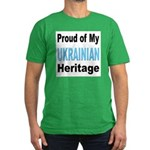 Proud Ukrainian Heritage Men's Fitted T-Shirt (dar