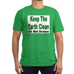 Keep the Earth Clean Men's Fitted T-Shirt (dark)