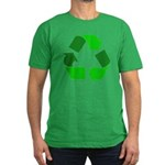 Recycle Environment Symbol Men's Fitted T-Shirt (d