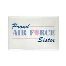 Proud Air Force Sister Rectangle Magnet (10 pack)