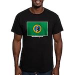Washington State Flag Men's Fitted T-Shirt (dark)