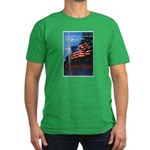Proud American Flag Men's Fitted T-Shirt (dark)