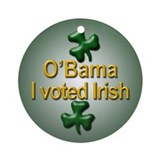Voted Irish Ornament (Round)