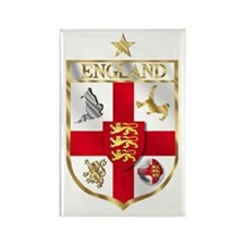 England Gold Shield Soccer Rectangle Magnet (100 p
