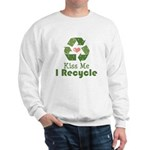 Kiss Me I Recyle Sweatshirt