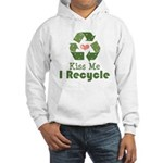 Kiss Me I Recyle Hooded Sweatshirt