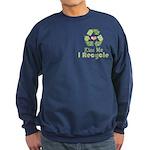 Kiss Me I Recyle Sweatshirt (dark)