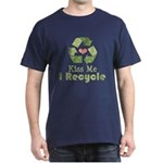 Kiss Me I Recyle Dark T-Shirt