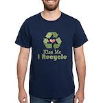 Kiss Me I Recyle Dark T-Shirt