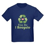 Kiss Me I Recyle Kids Dark T-Shirt
