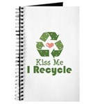 Kiss Me I Recyle Journal