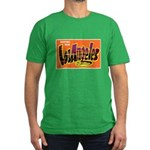 Los Angeles California Greeti Men's Fitted T-Shirt