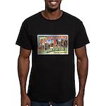 Rapid City South Dakota Greet Men's Fitted T-Shirt