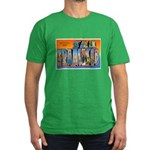 San Francisco California Gree Men's Fitted T-Shirt