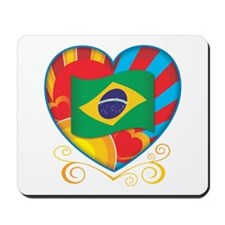 Brazillian Heart Mousepad