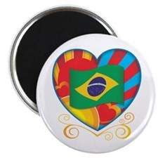 Brazillian Heart Magnet