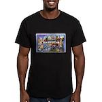 Bangor Maine Greetings Men's Fitted T-Shirt (dark)