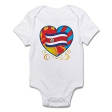 Costa Rican Heart Infant Bodysuit