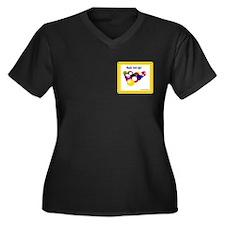 Billiards Women's Plus Size V-Neck Dark T-Shirt