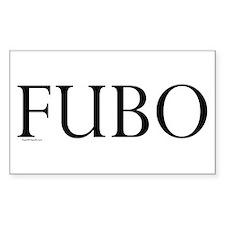 FUBO Rectangle Sticker