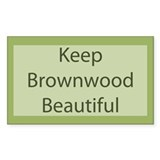 &quot;Keep Brownwood Beautiful&quot; Rectangle Decal
