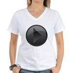 Play Button Women's V-Neck T-Shirt