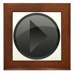 Play Button Framed Tile