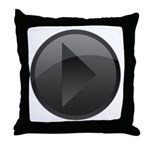 Play Button Throw Pillow