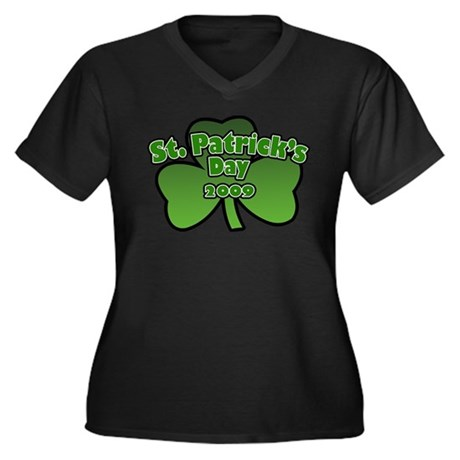 St. Patrick's Day 2009 Women's Plus Size V-Neck Da