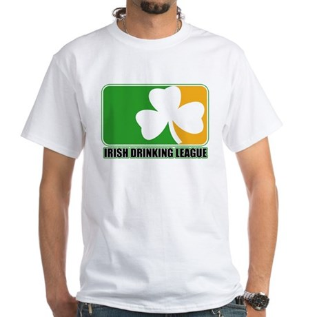 Irish Drinking League White T-Shirt