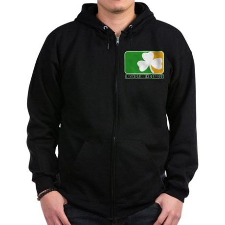 Irish Drinking League Zip Hoodie (dark)