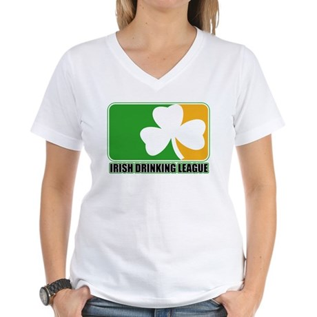 Irish Drinking League Women's V-Neck T-Shirt