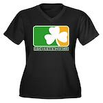 Irish Drinking League Women's Plus Size V-Neck Dar