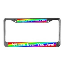 "GLBT ""Come Out"" - License Plate Frame"