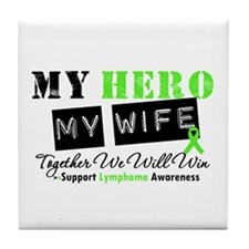 Lymphoma Hero Wife Tile Coaster