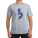Blue Kokopelli Men's Fitted T-Shirt (dark)