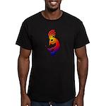 Kokopelli Snowboarder Men's Fitted T-Shirt (dark)