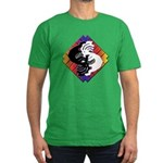 Kokopelli Yin Yang Men's Fitted T-Shirt (dark)